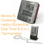 Heston Blumenthal 5-in-1 Digital Thermometer & Dual Timer (Giveaway Now Closed)