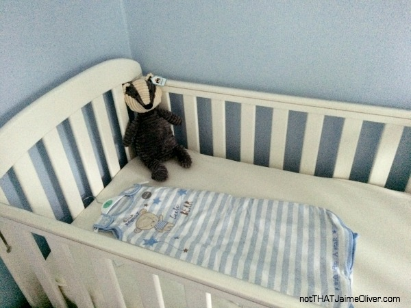 cot in the nursery