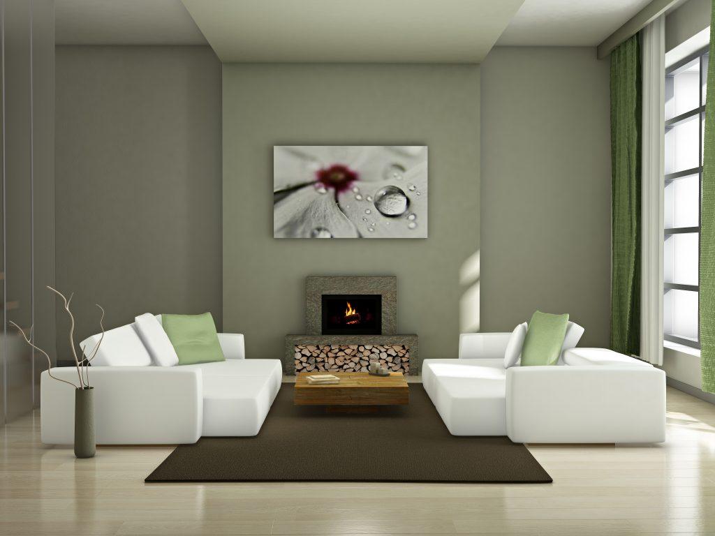 Modern interior (3D render) - Living room